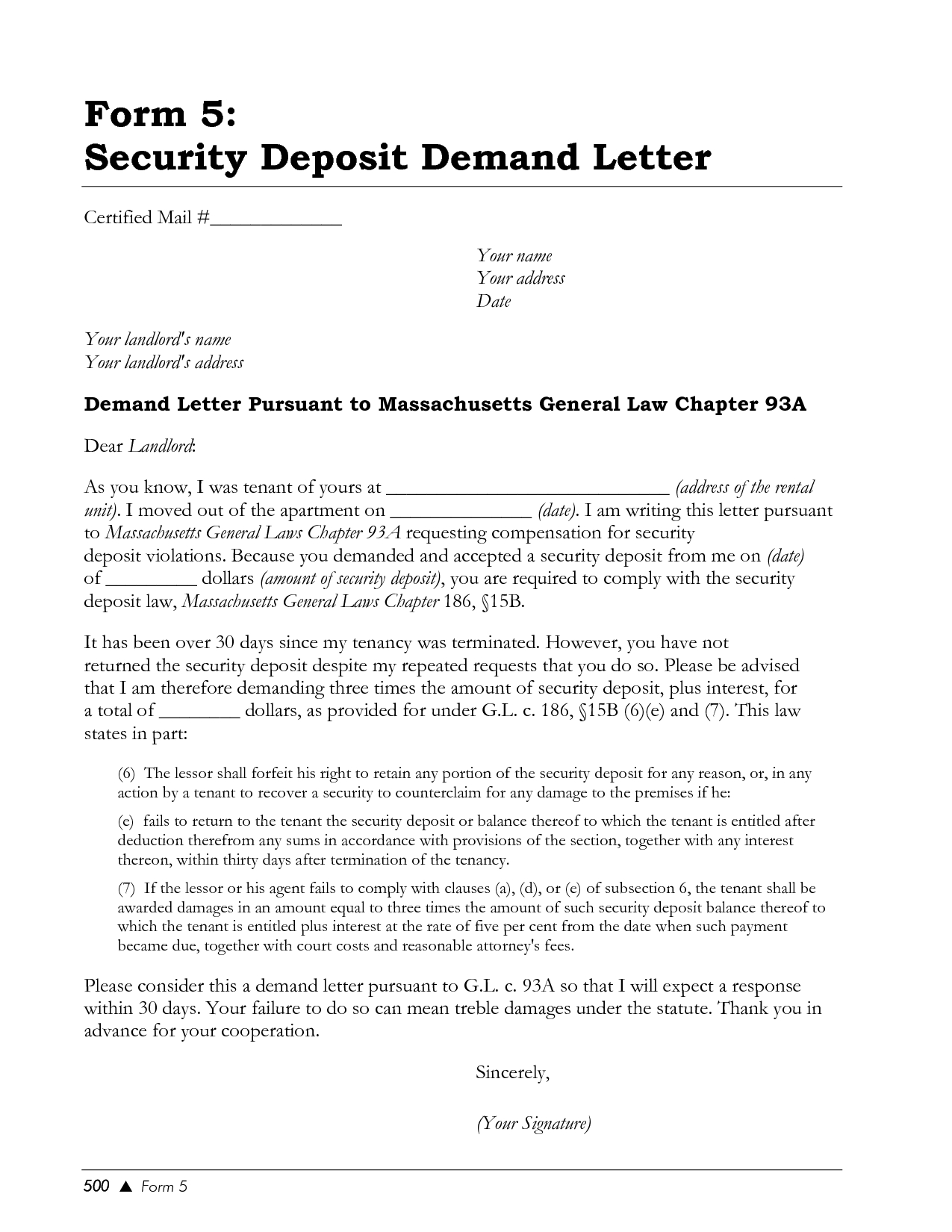 Security Deposit Demand Letter Template Florida - Free Cover Letter Templates Writing A Demand Letter