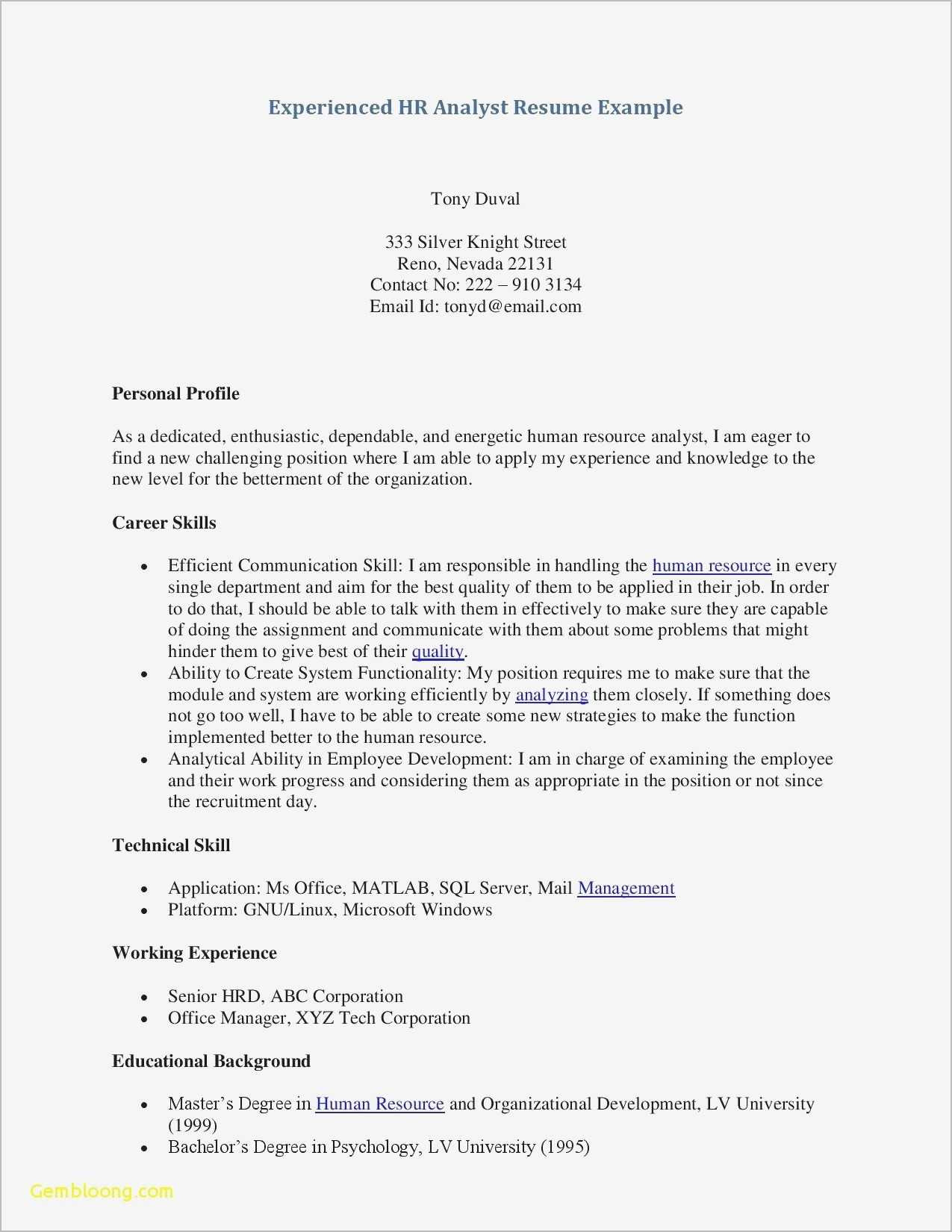 Sample Letter Of Recommendation Template Free - Free Cute Resume Templates Recent Awesome Free Professional Resume