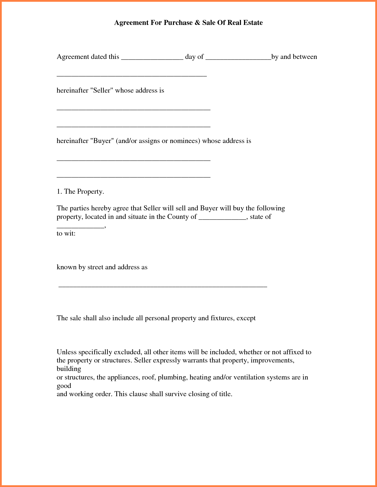 Free Real Estate Letter Of Intent Template To Purchase Image