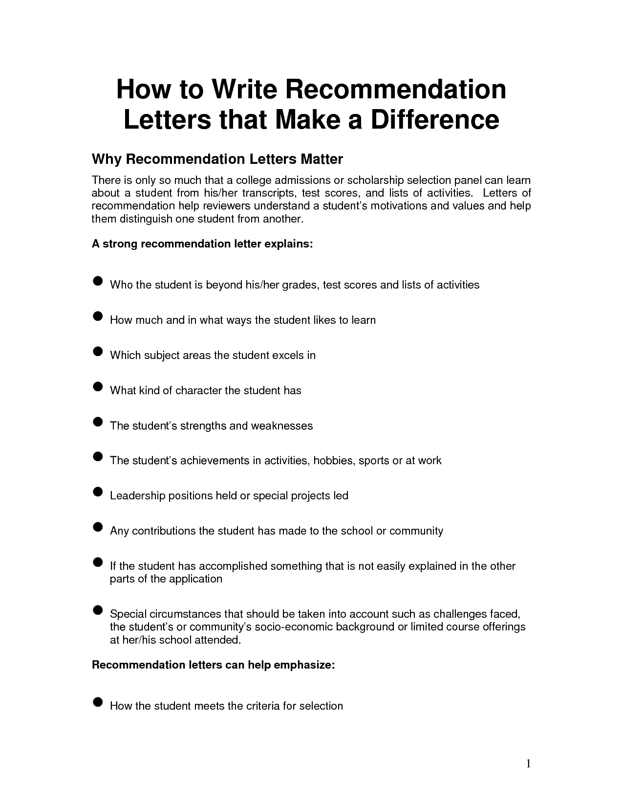 letter of recommendation for yourself template samples