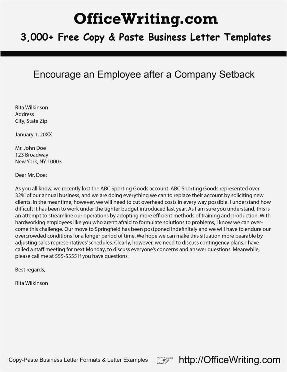 Writing A Business Letter Template - Free Letter Templates Resumes for Free Lovely Winning Resumes