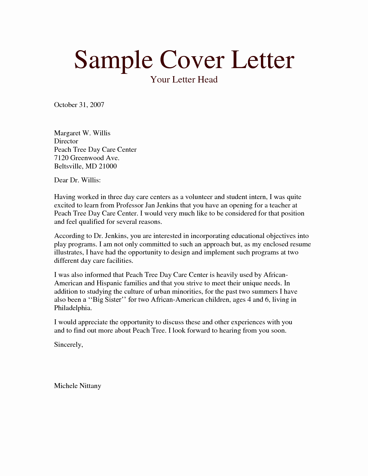 child care authorization letter template collection letter cover