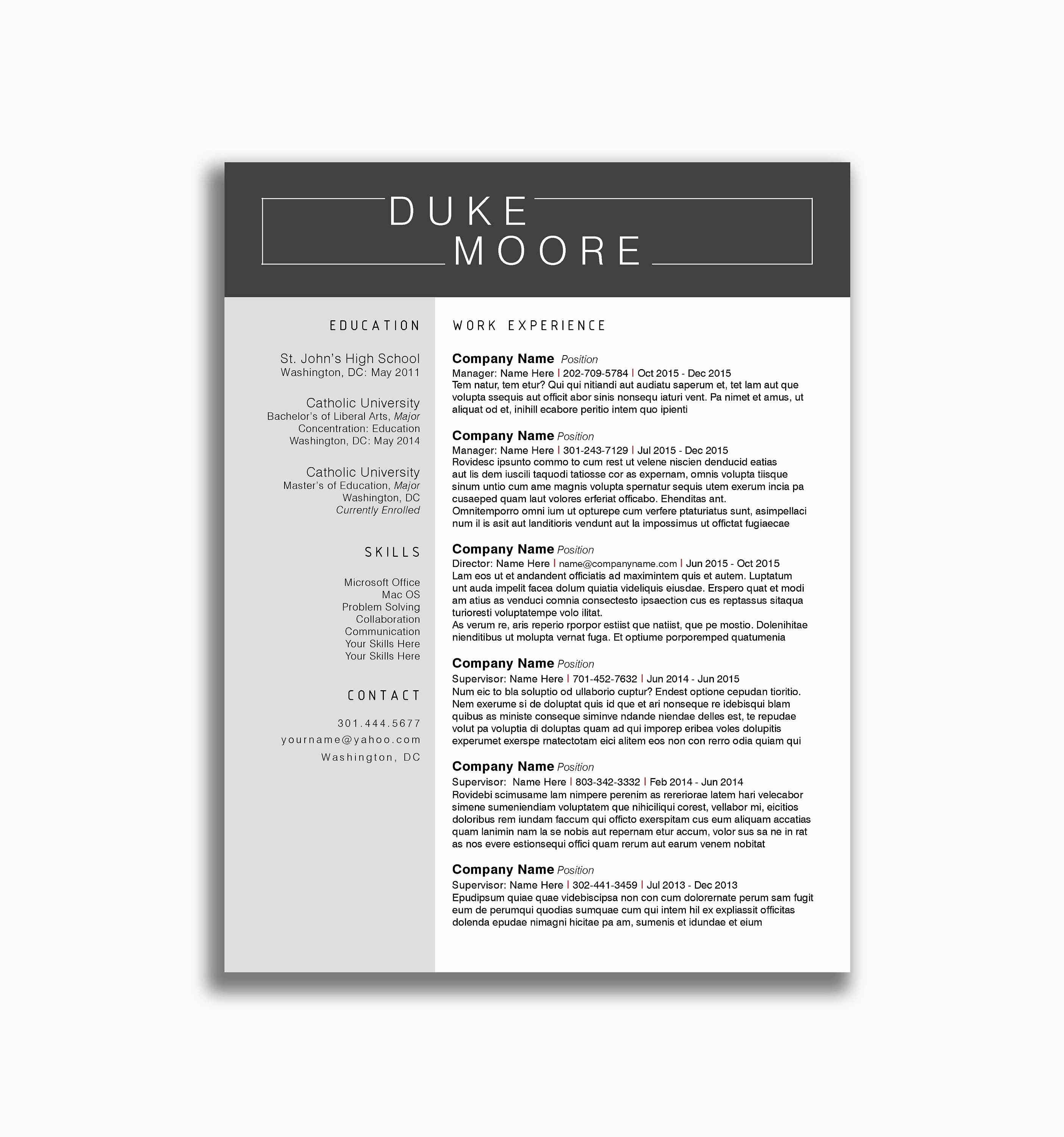 Indesign Letter Template - Free Resume Template Indesign Elegant Very Basic Resume Template