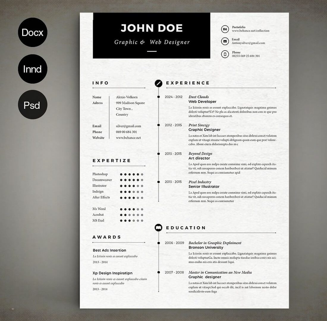 Indesign Cover Letter Template - Free Resume Template Indesign Luxury Resume Template Indesign Free