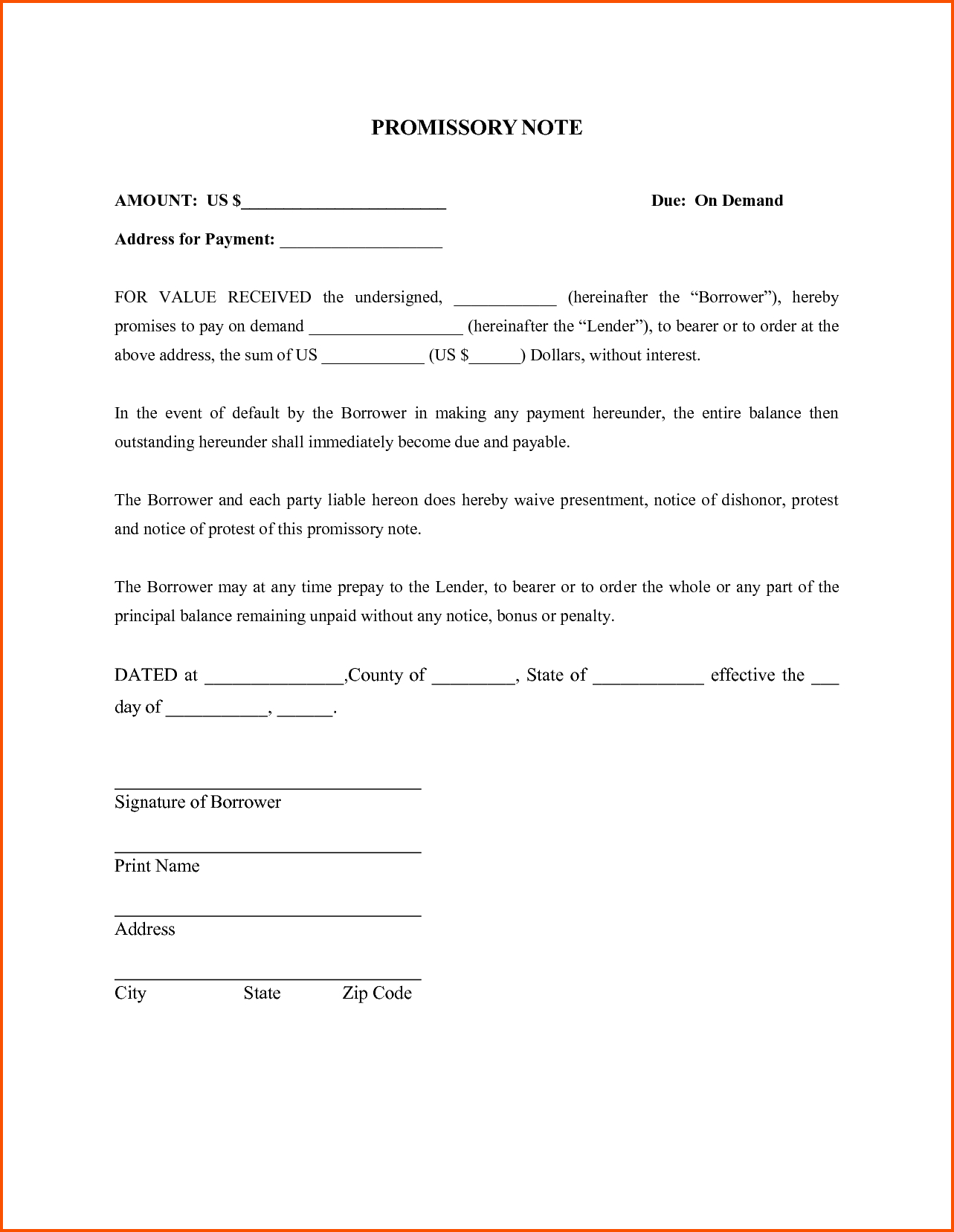promissory letter template example-Fresh Promissory Note Template Word 16-r