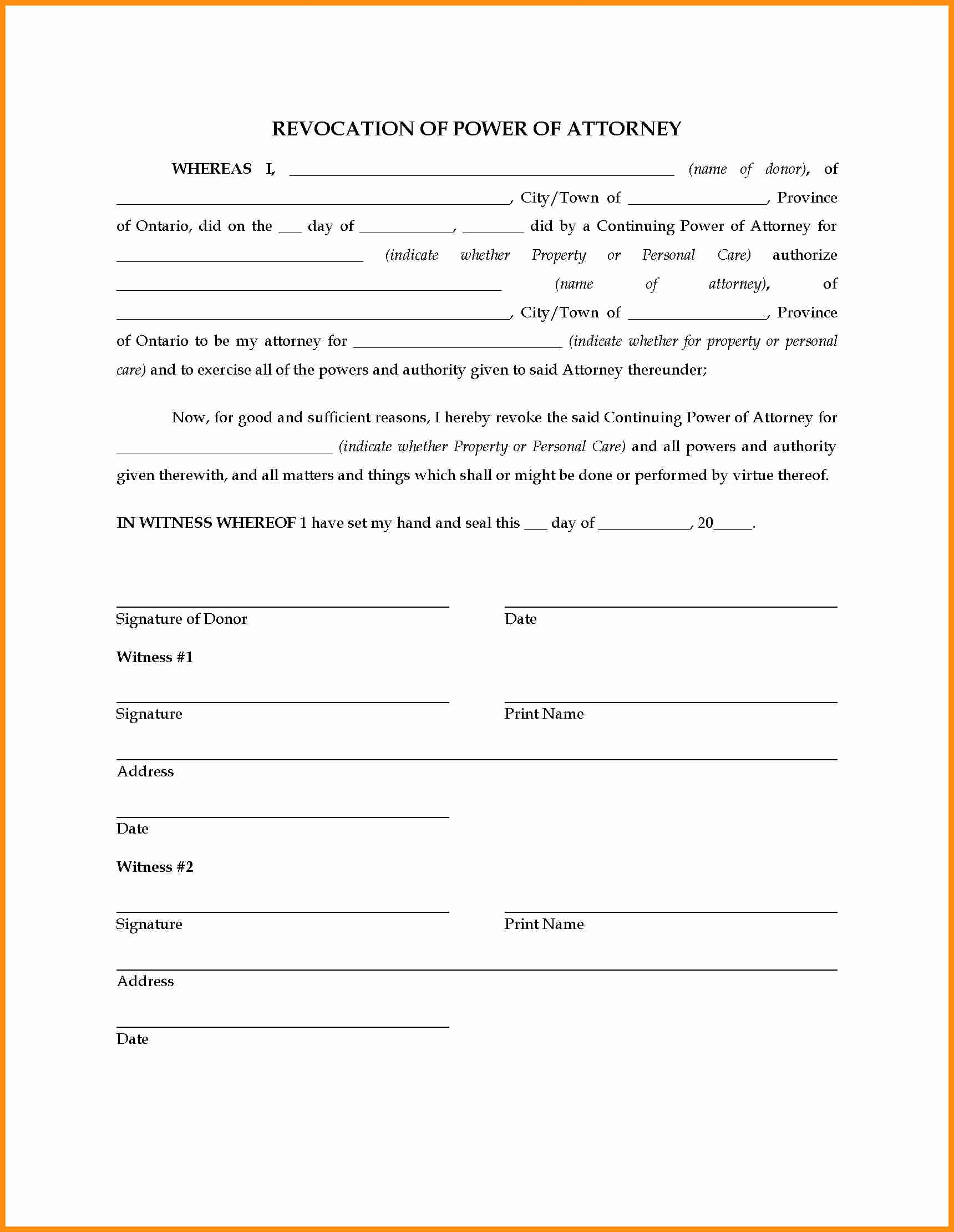 Simple Power Of attorney Letter Template - Fresh Temporary Power attorney Template