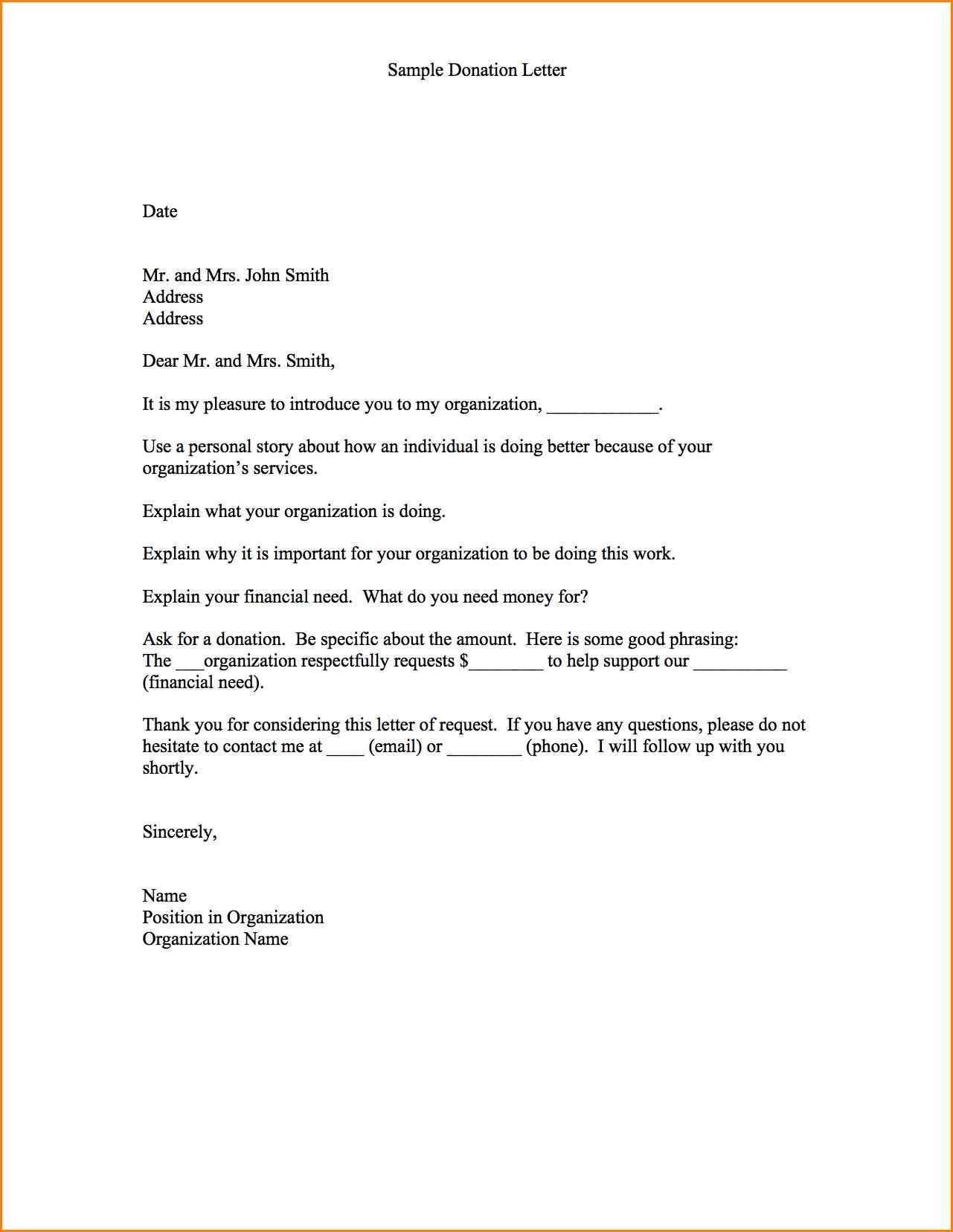 Demand Letter Template Texas - Fundraising Appeal Letter format New 11 Sample Donation Request