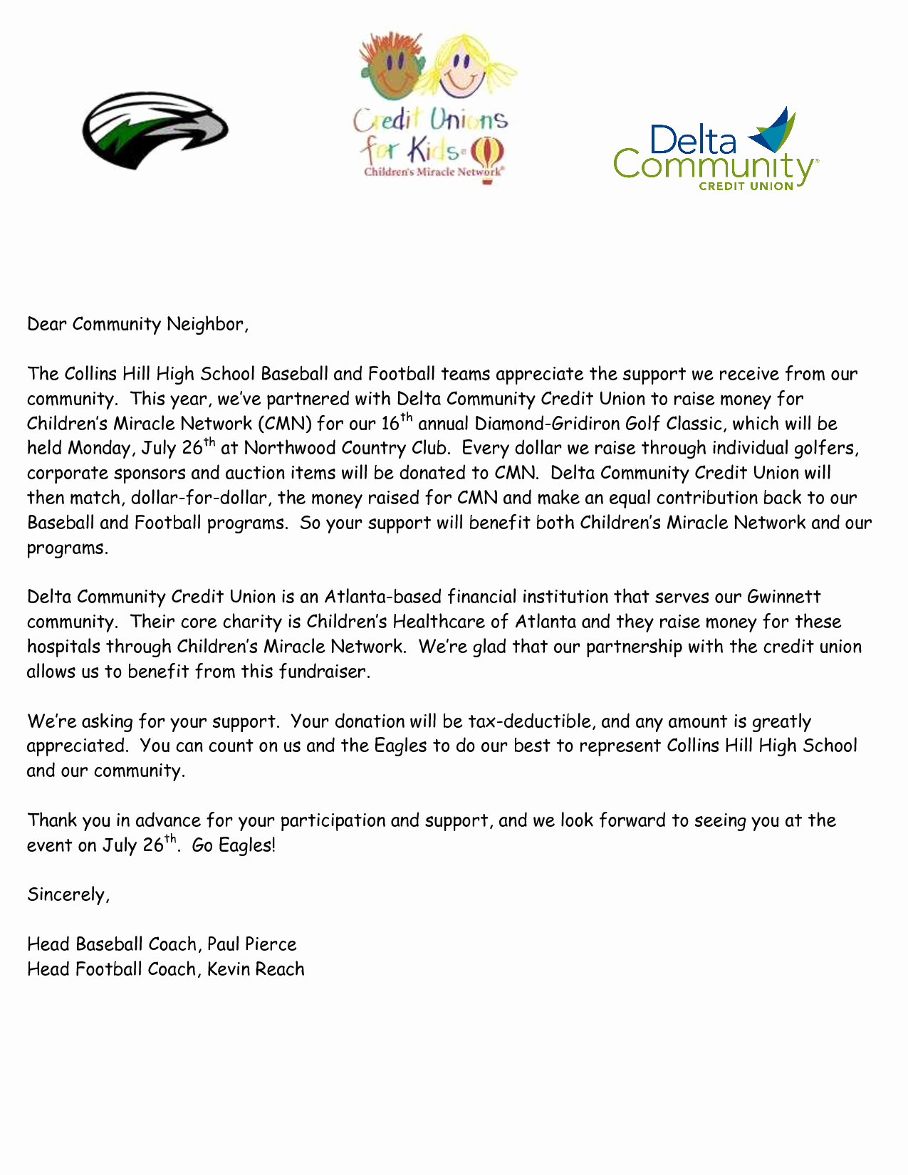 Golf tournament Donation Letter Template - Fundraising Sponsorship form Template Awesome Best S Sponsorship