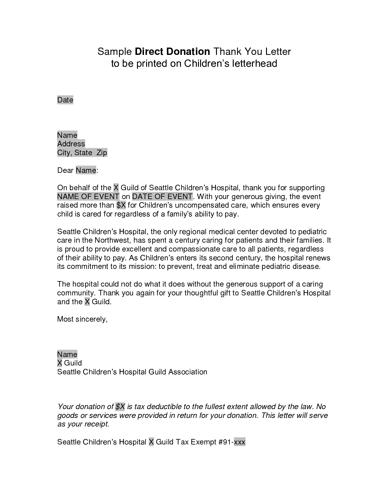 Sample Donation Request Letter Template Scout on free campaign, relay for life,