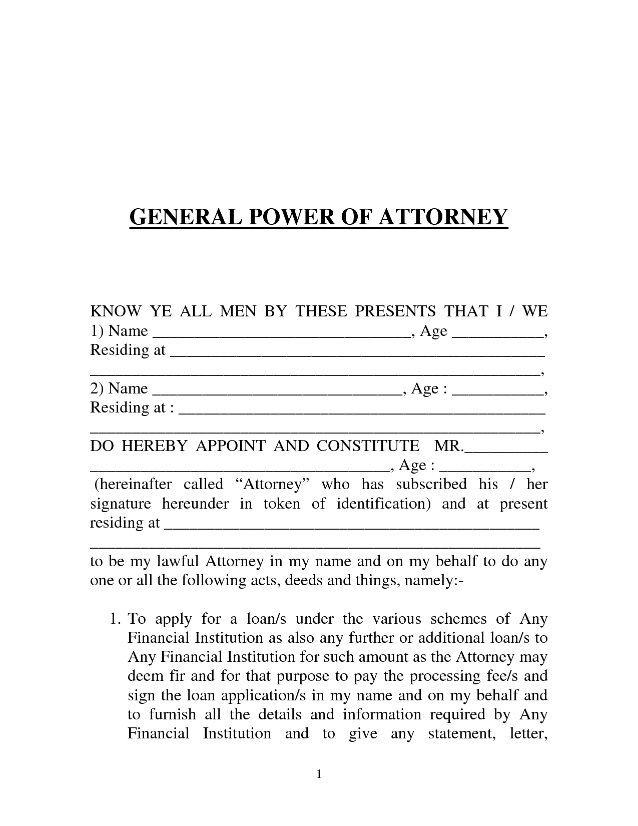 Power Of attorney Resignation Letter Template - General Power attorney form India by Prettytulips Letter Of