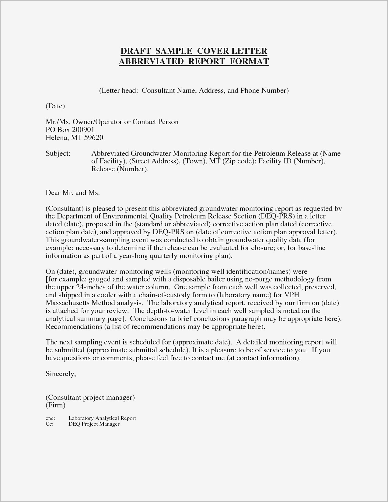 Generic Resume Cover Letter Template - Generic Resume Cover Letter Samples