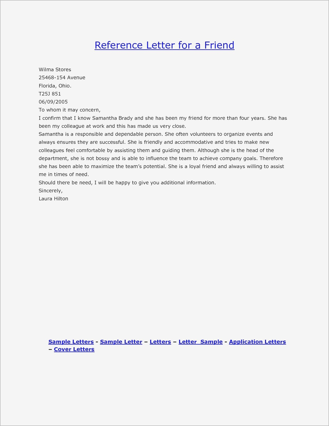 personal reference letter format sample thepizzashop co