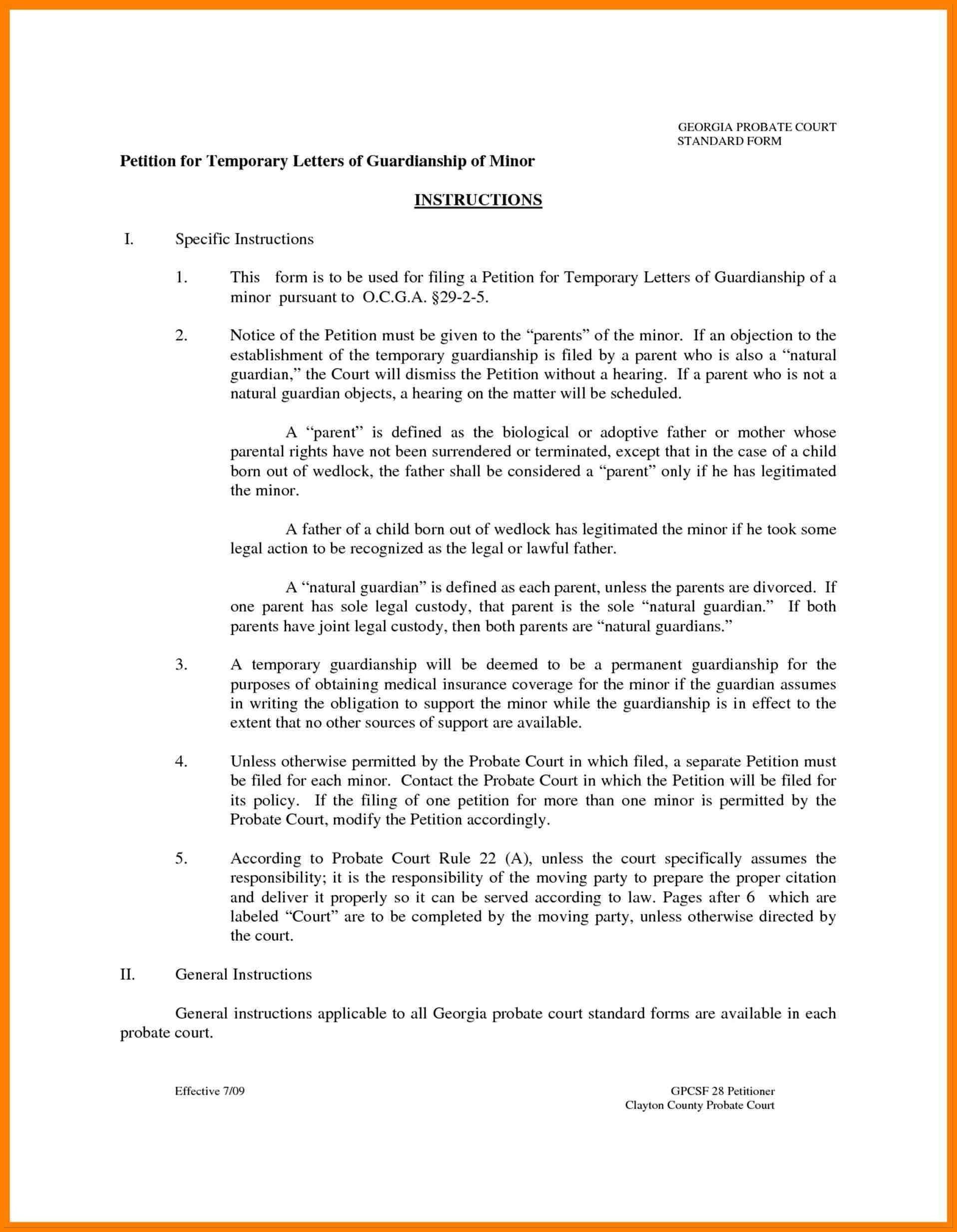 Temporary Guardianship Letter Template - Guardian form for Child Unique Conference Request Joselinohouse