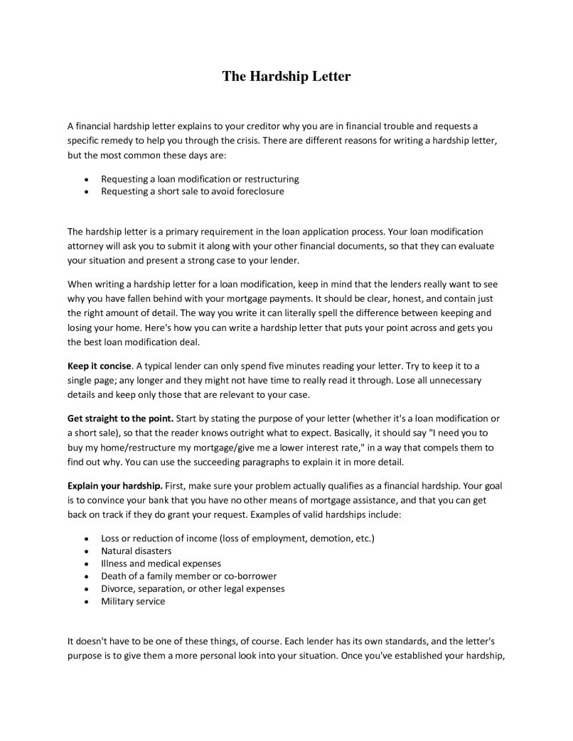 Financial Hardship Letter Template - Hardship Letter for 401k withdrawal Template