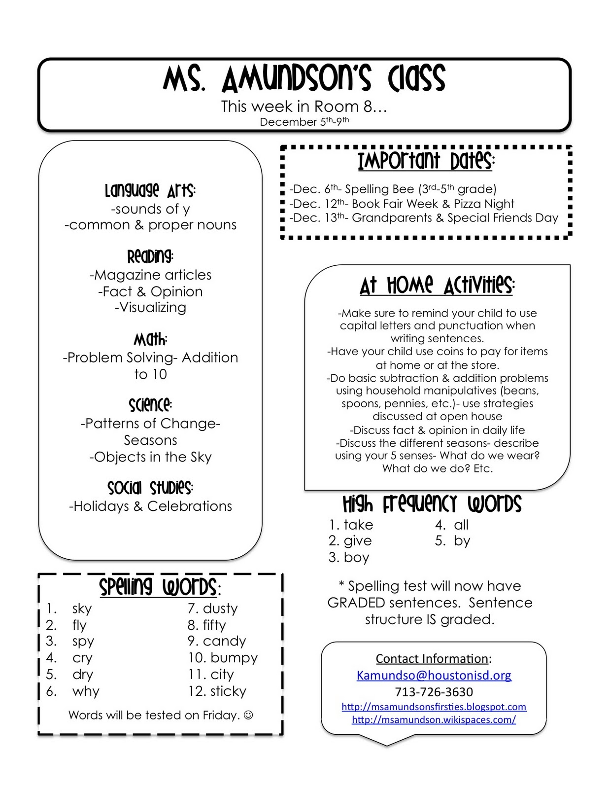 Weekly Letter to Parents Template - High School Newsletter Templates Free High School Newsletter