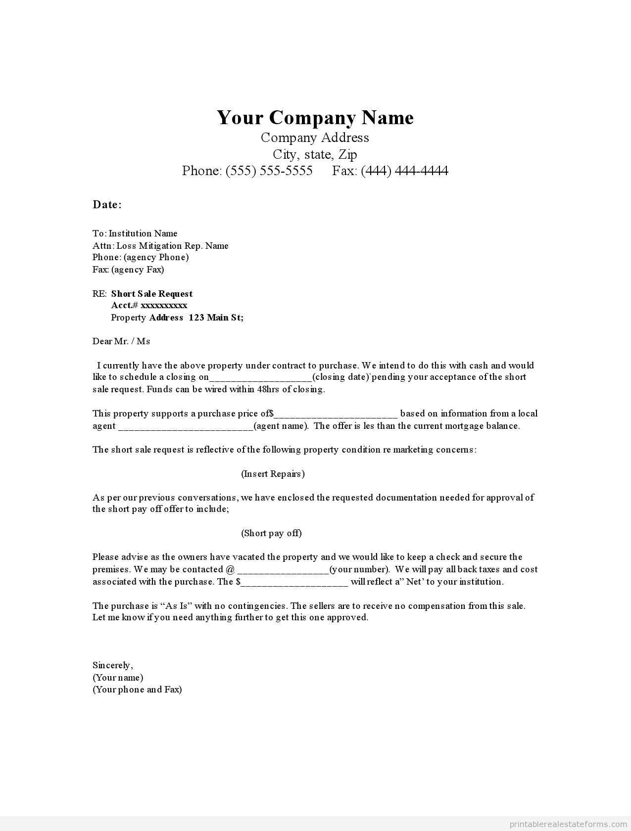 for sale by owner offer letter template
