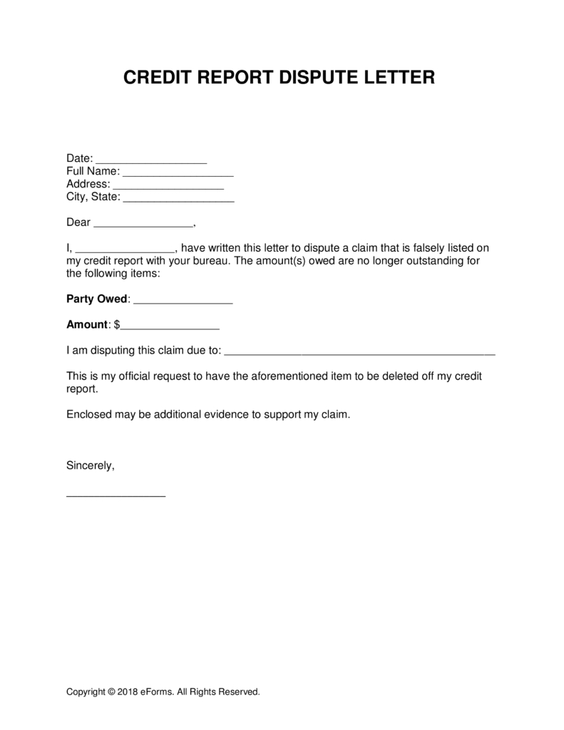 Credit Report Dispute Letter Template - How to Write A Credit Report Dispute Letter Letter format