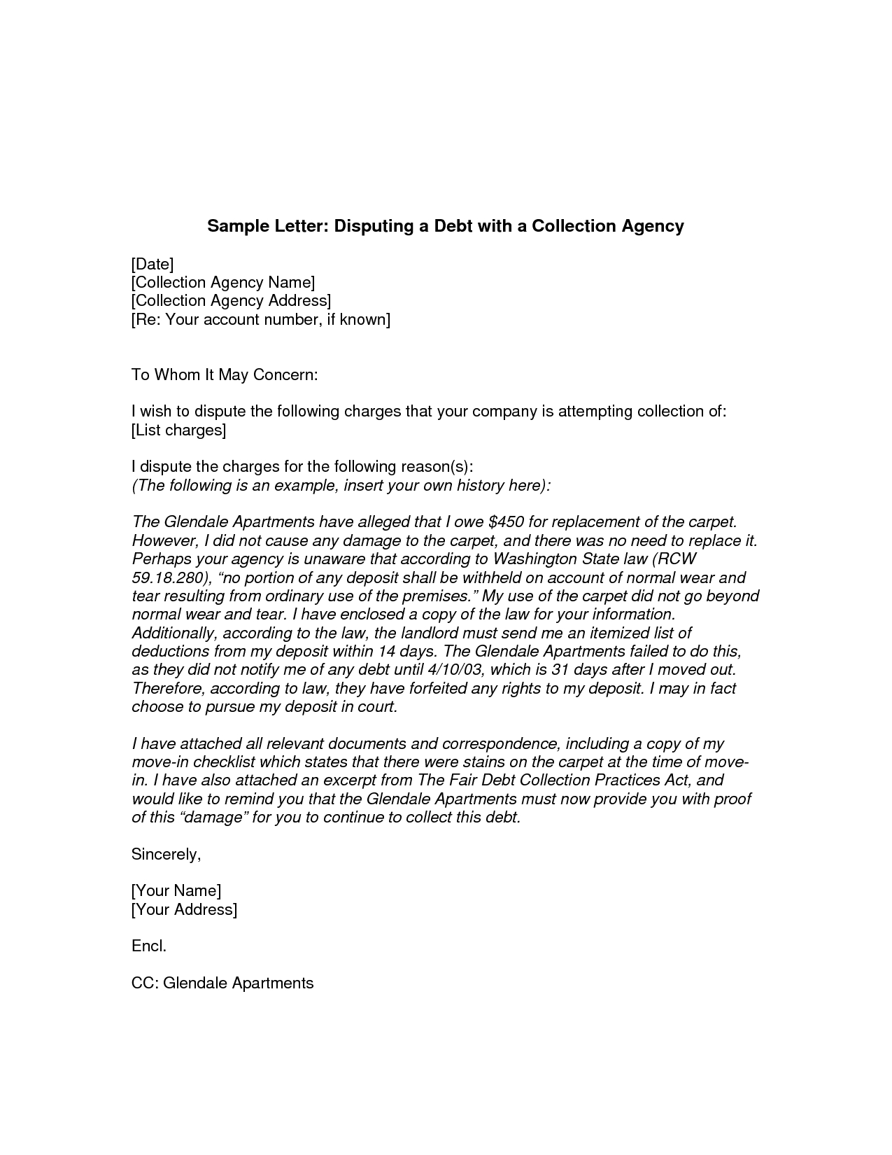 Collection Dispute Letter Template - How to Write A Dispute Letter to Collection Agency Letter