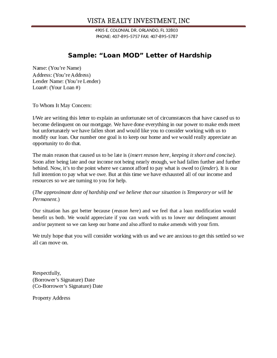 Mortgage Hardship Letter Template - How to Write A Hardship Letter to A Mortgage Pany Letter