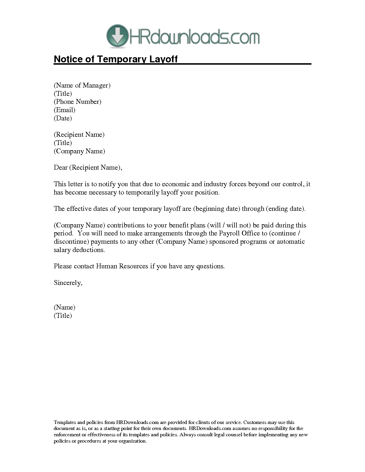 Layoff Letter Template - How to Write A Layoff Letter Image Collections Letter format