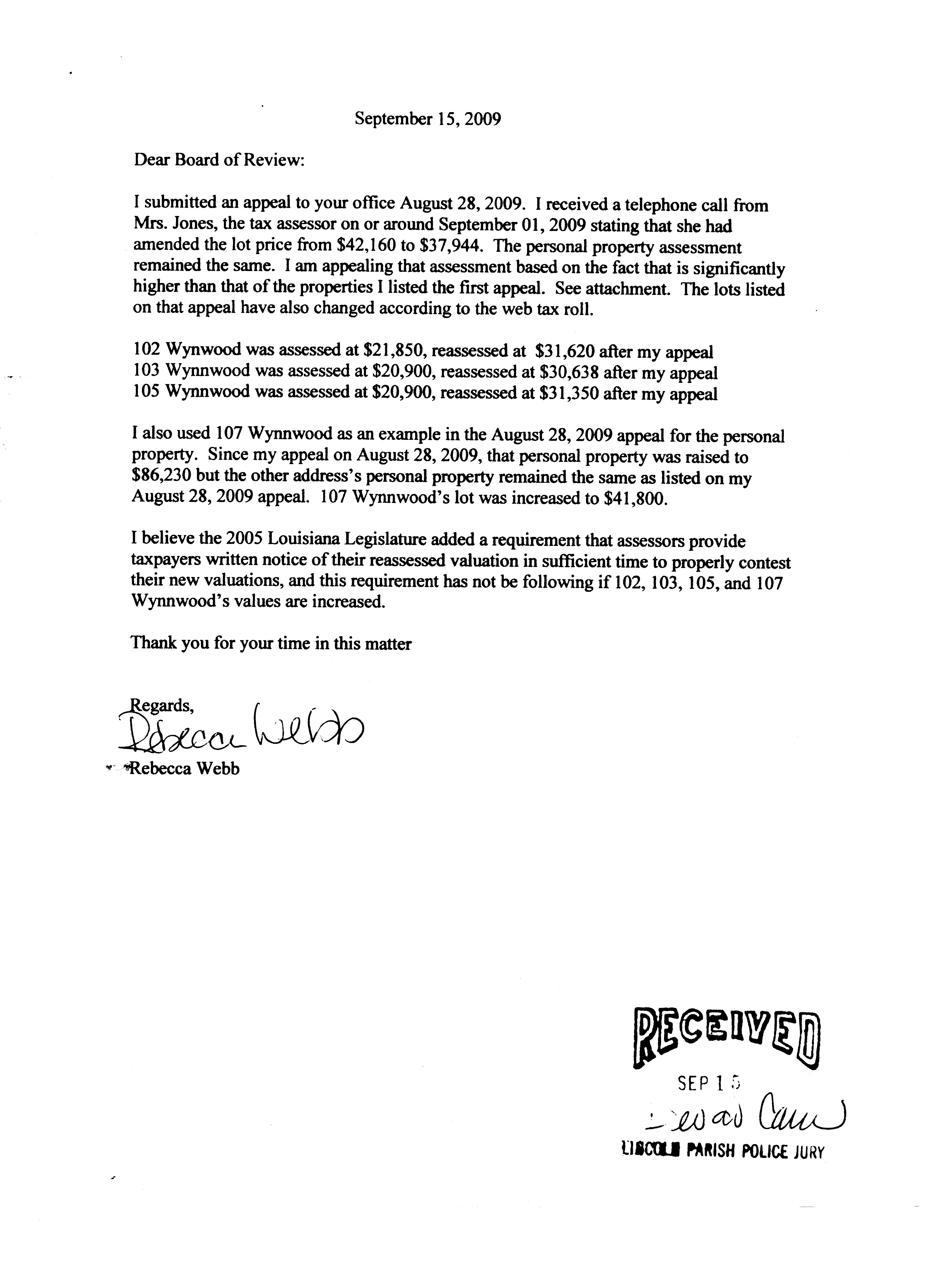Property Tax Appeal Letter Template - How to Write A Letter Appeal Sample Choice Image Letter format