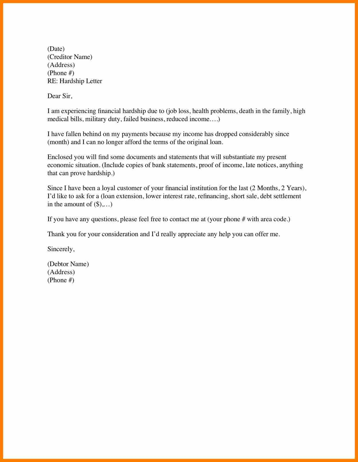 mortgage payment shock letter template collection