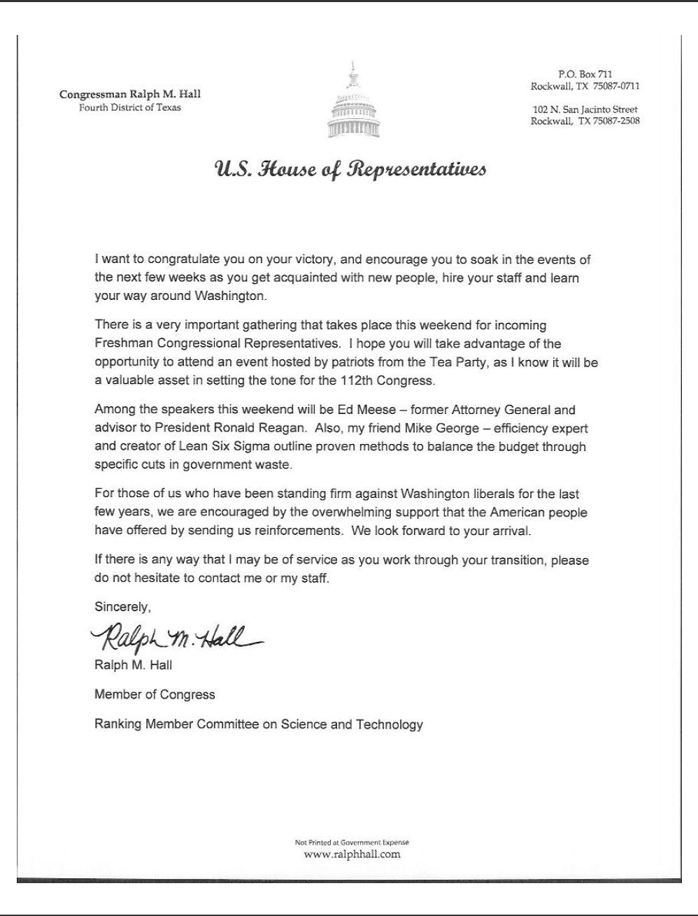 Letter to Congressman Template Samples | Letter Cover Templates