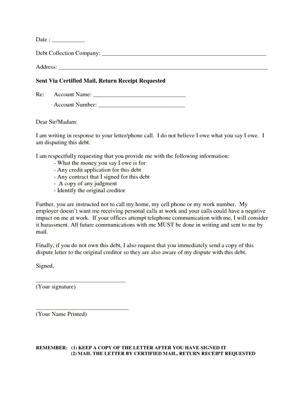 debt harassment template letter Collection-Sample debt collection dispute letter report template example good sample debt collection dispute letter report template 6-j