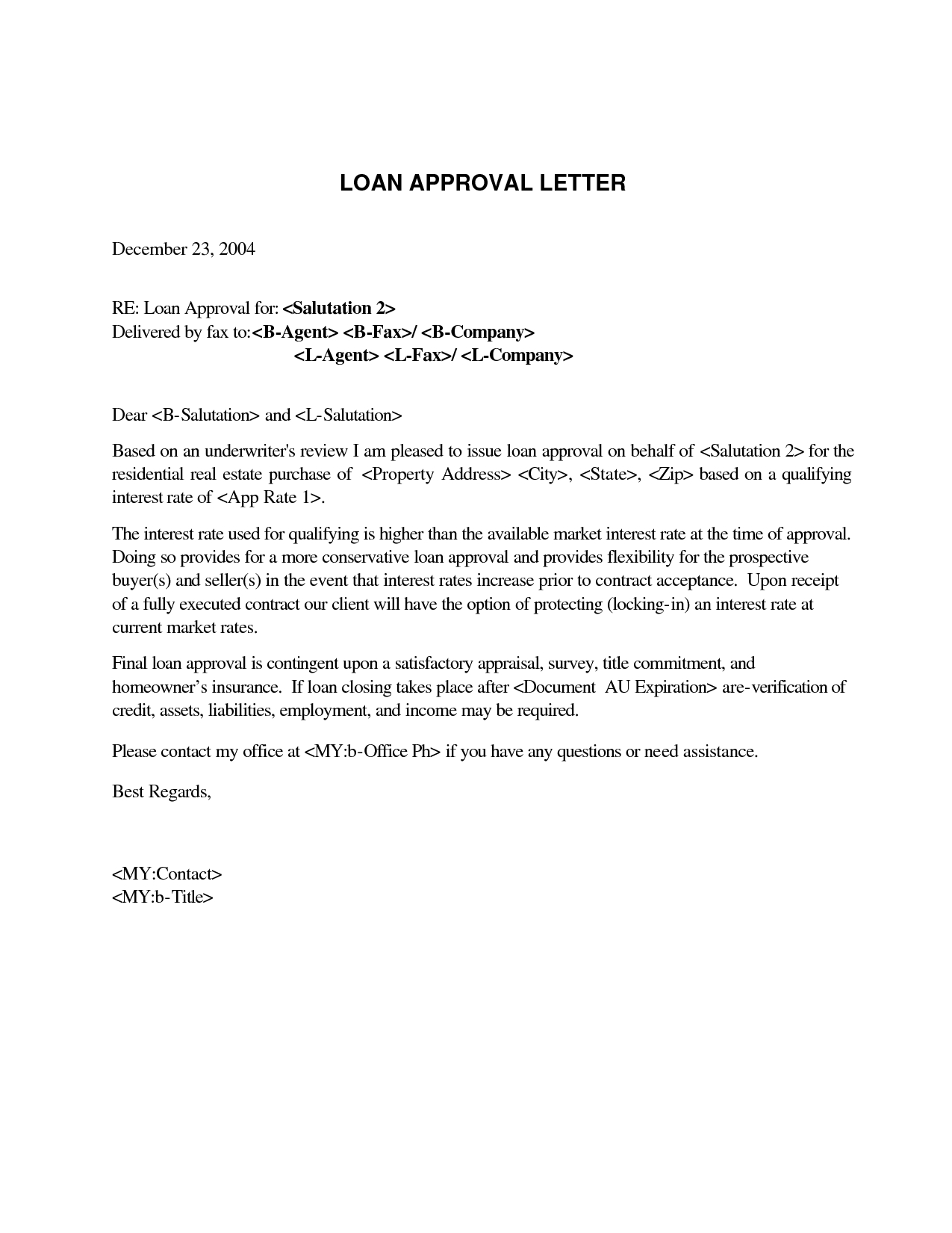 Mortgage Pre Approval Letter Template - How to Write An Approval Letter Gallery Letter format formal Sample