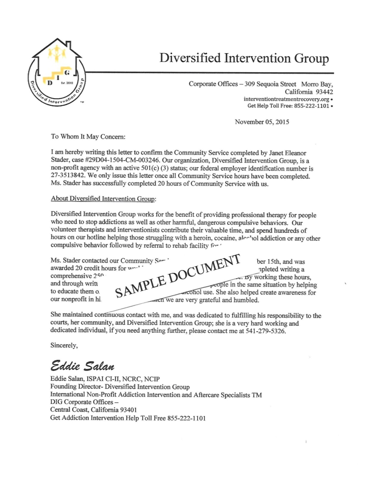 Court ordered Community Service Letter Template - How to Write An Intervention Letter Gallery Letter format formal