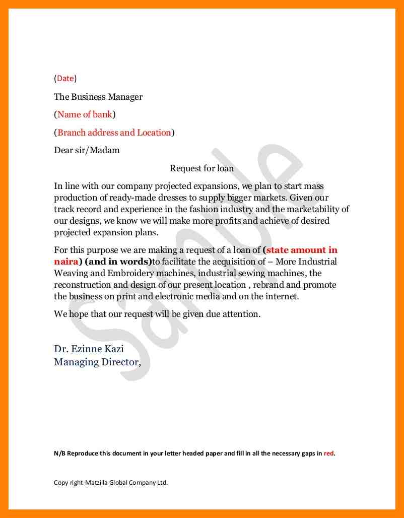 Company Rebrand Letter Template - How to Write Loan Request Letter Bank Erpjewels Manager Business