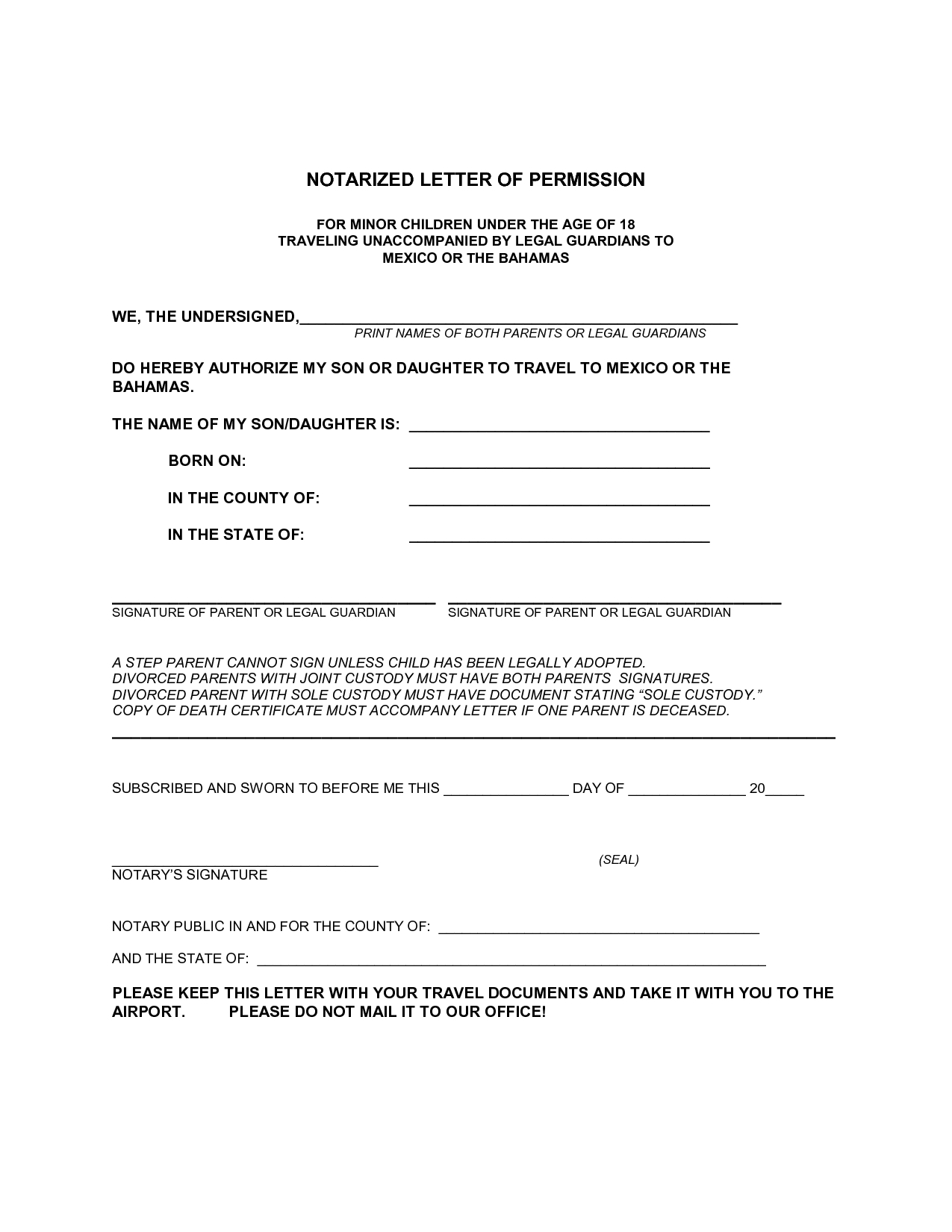 Notary Letter Template Free Samples