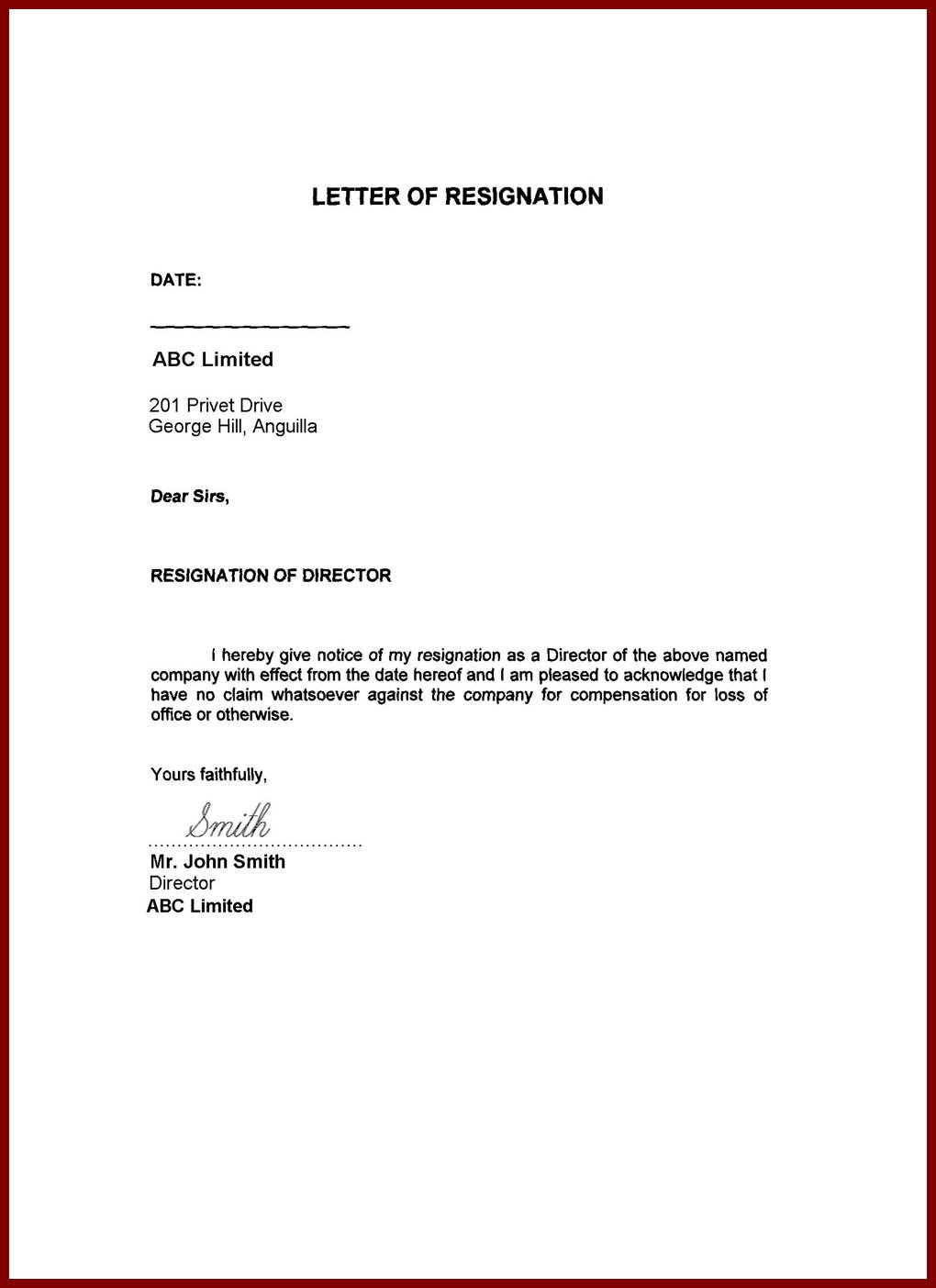 Immediate Resignation Letter Template - Ideas for Resignation Letters Image Collections Letter format