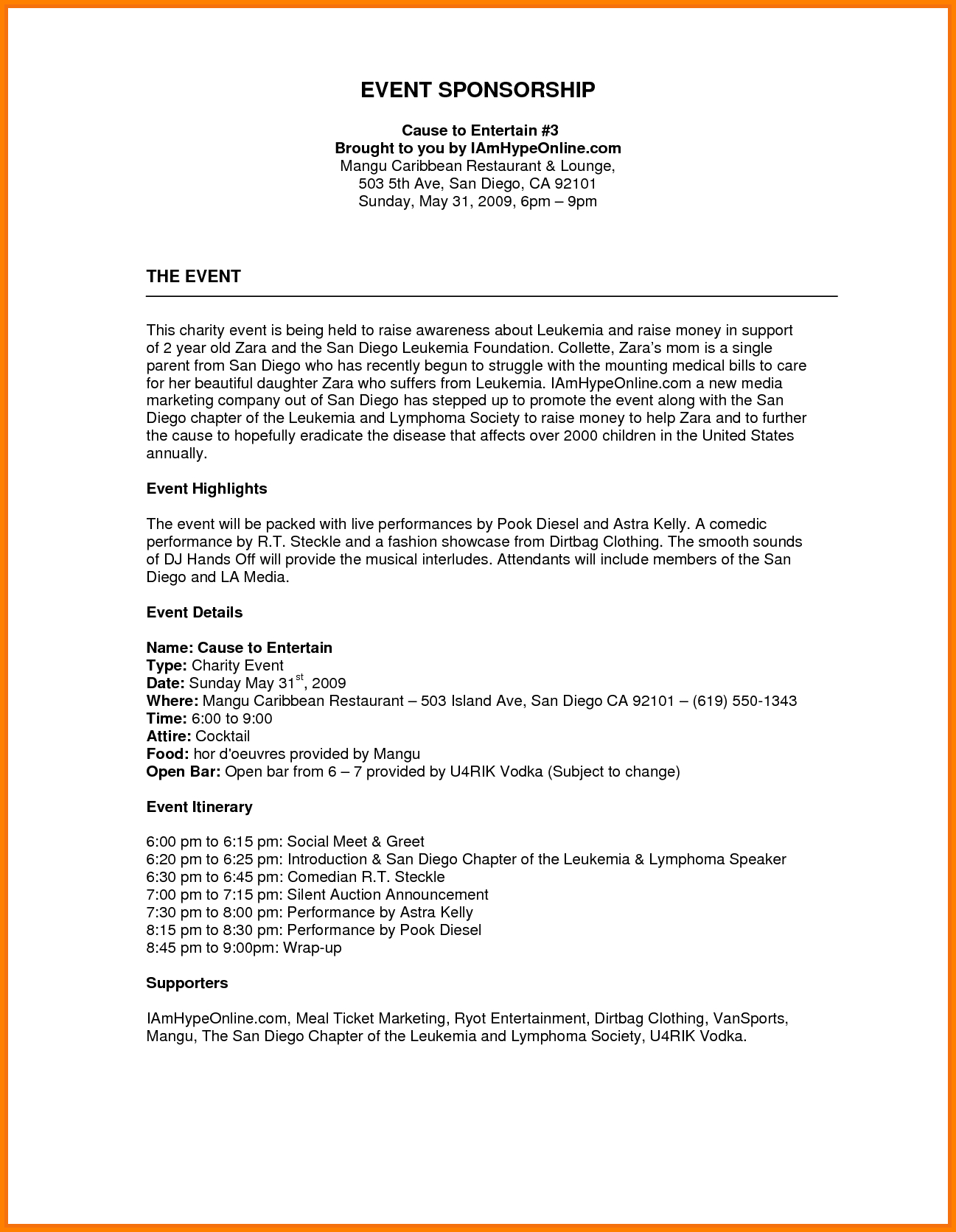 Donation Letter Template for Fundraiser - Image Result for Sponsorship Proposal Template Financetemplate