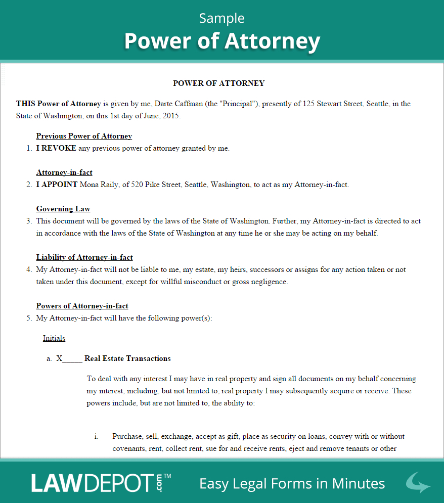 Power Of attorney Letter Template - Images Sample Documents Sample Po