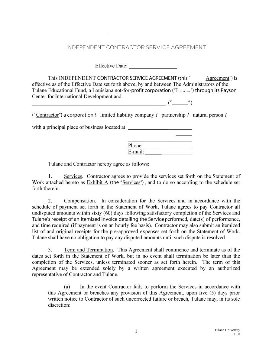 Independent Contractor Offer Letter Template - Independent Contractor Termination Letter Acurnamedia