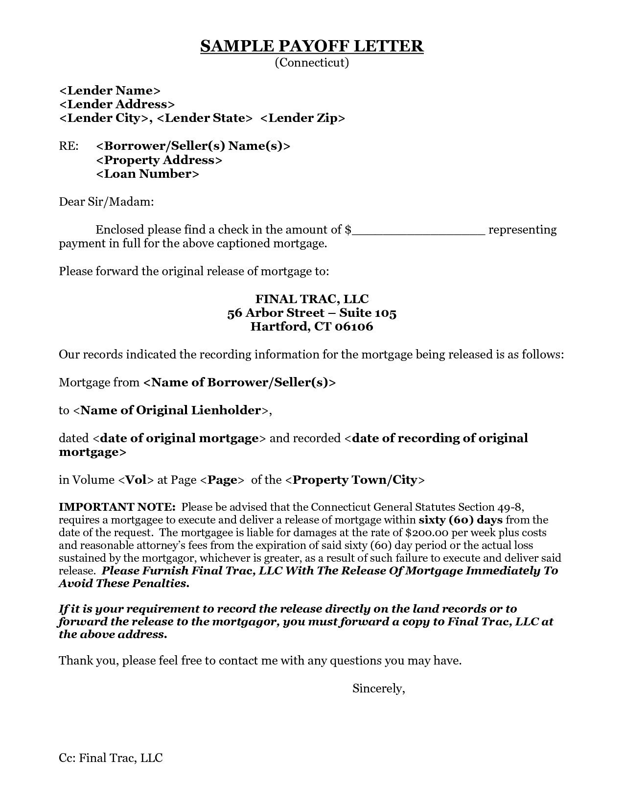 mortgage loan payoff letter template example-Inspiration 9 Best Sample Loan Payoff Letter form Loan Payoff New 8 Payoff Statement Template 13-i