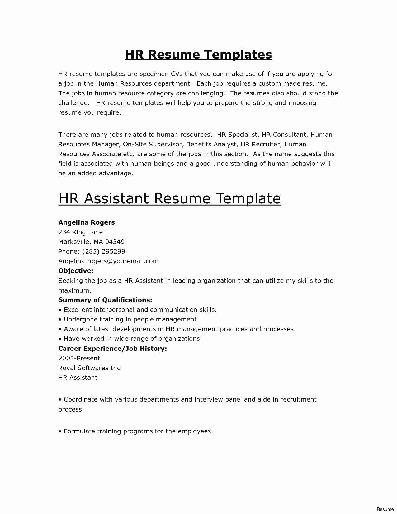 employment verification letter template Collection-free word resume template awesome free resume template builder inspirational od specialist sample of free word 14-q
