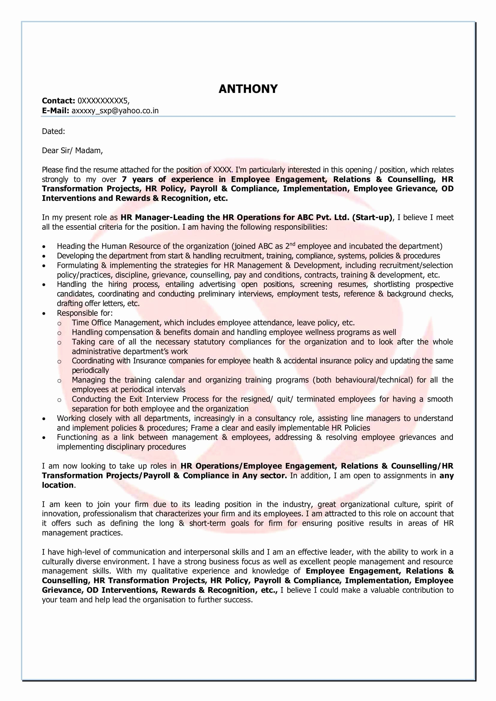 Debt Consolidation Letter Template - Inspirational Job Application Email Template