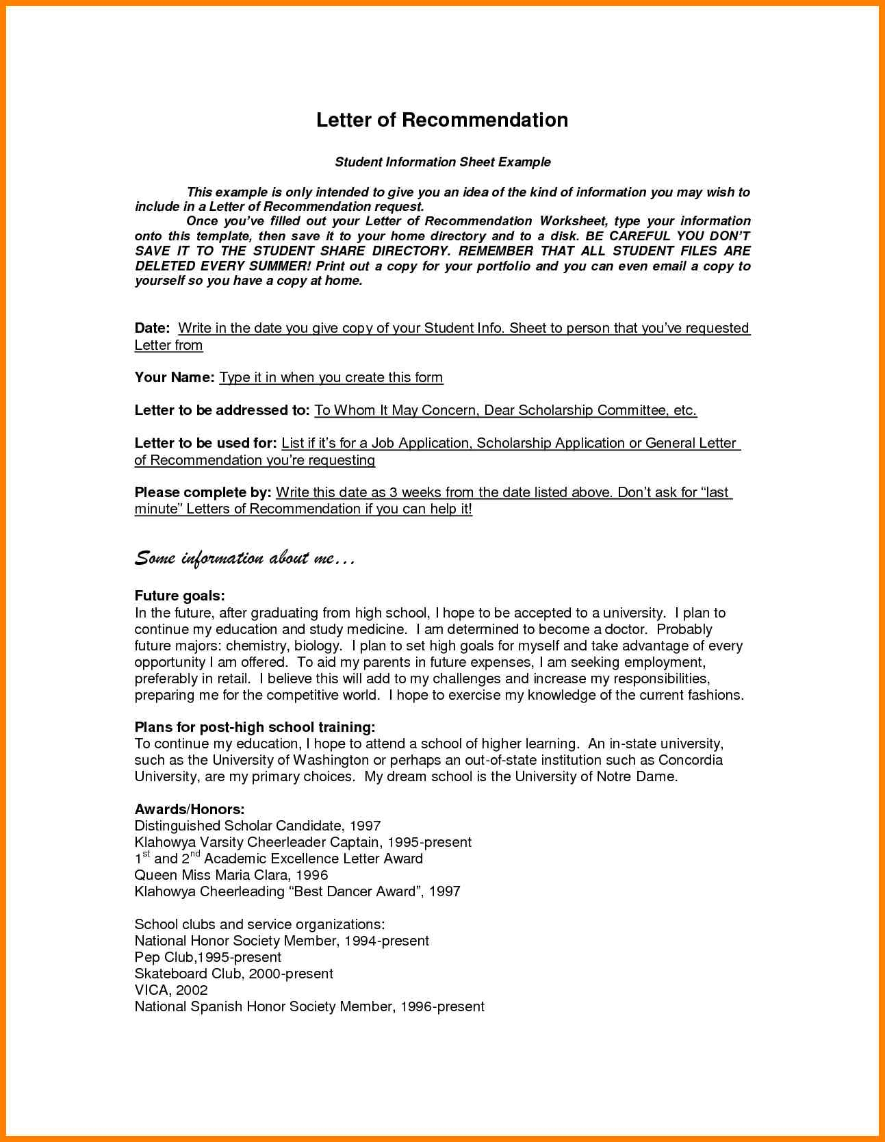 General Letter Of Recommendation Template - Inspirational Letter Re Mendation Template for Employee