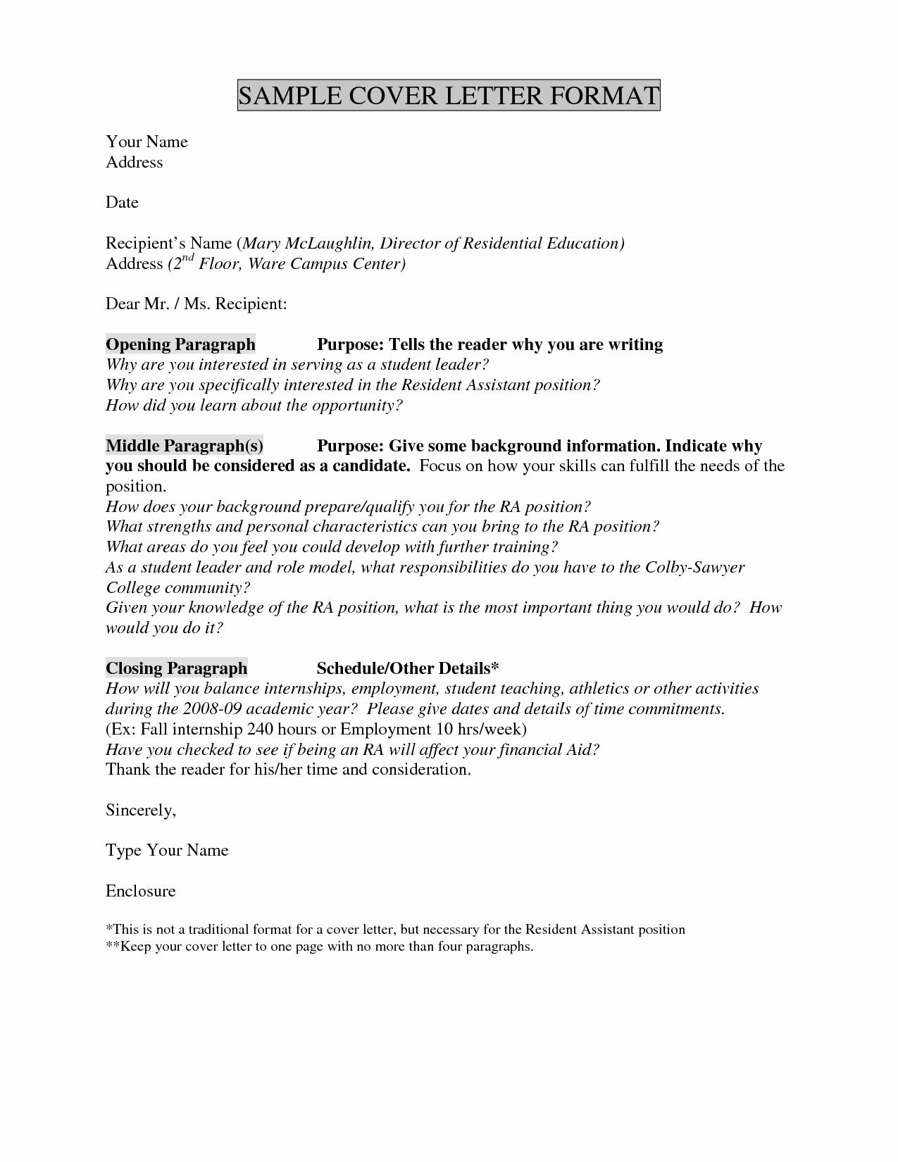 Intern Cover Letter Template - Internship Cover Letter Template Best Unique if I Apply to More