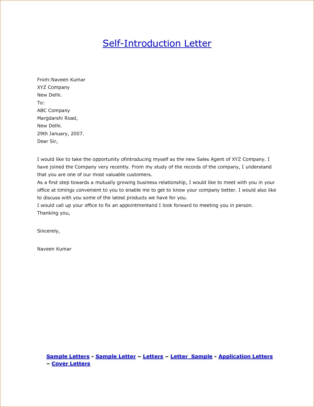 Cleaning Business Introduction Letter Template - Introduction Letter format for Trading Pany New Samples Business
