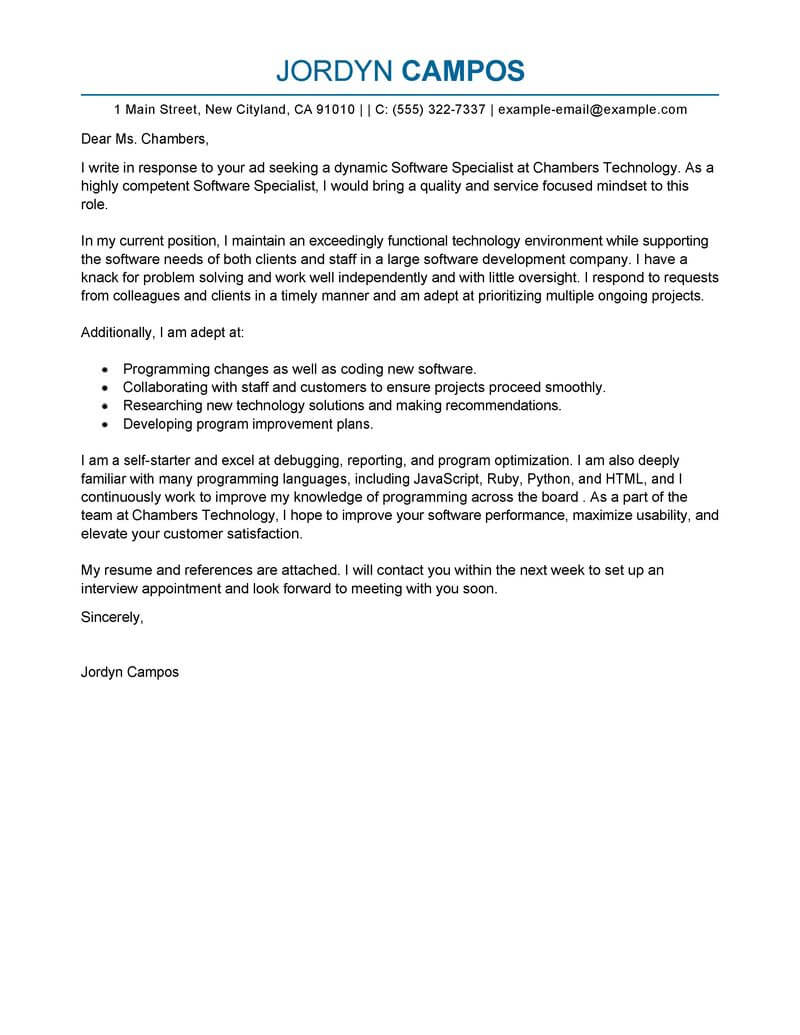 Media Cover Letter Template - It Specialist Cover Letter Acurnamedia