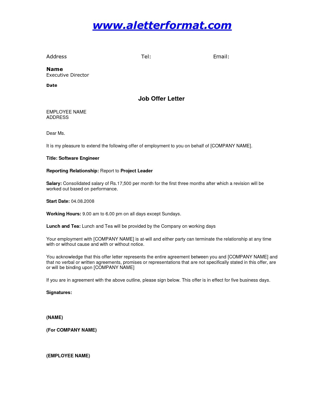 Conditional Offer Of Employment Letter Template - Job Fer How Long to Accept Archives Biz Apps Co Best Job Fer