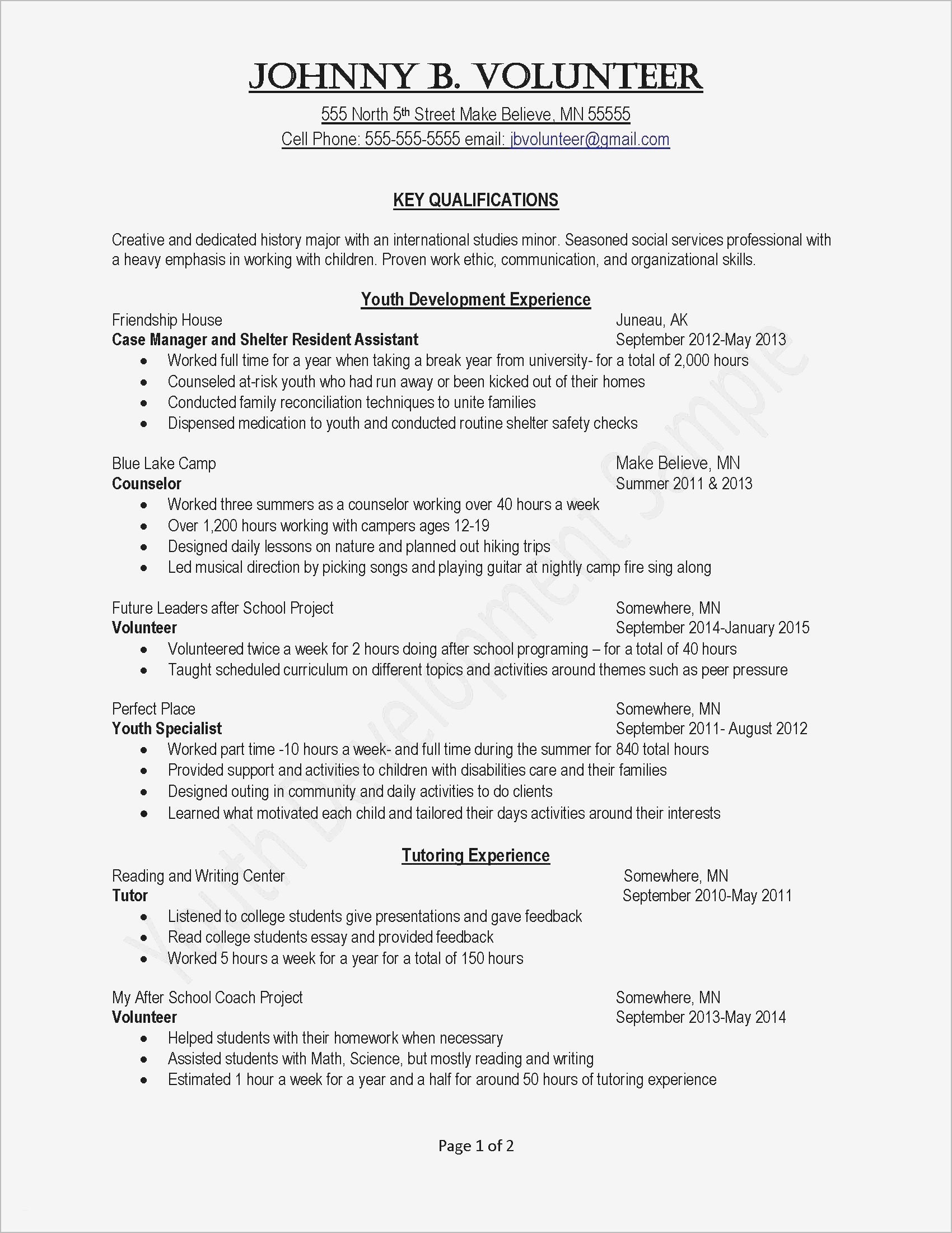 Job Application Letter Template Examples