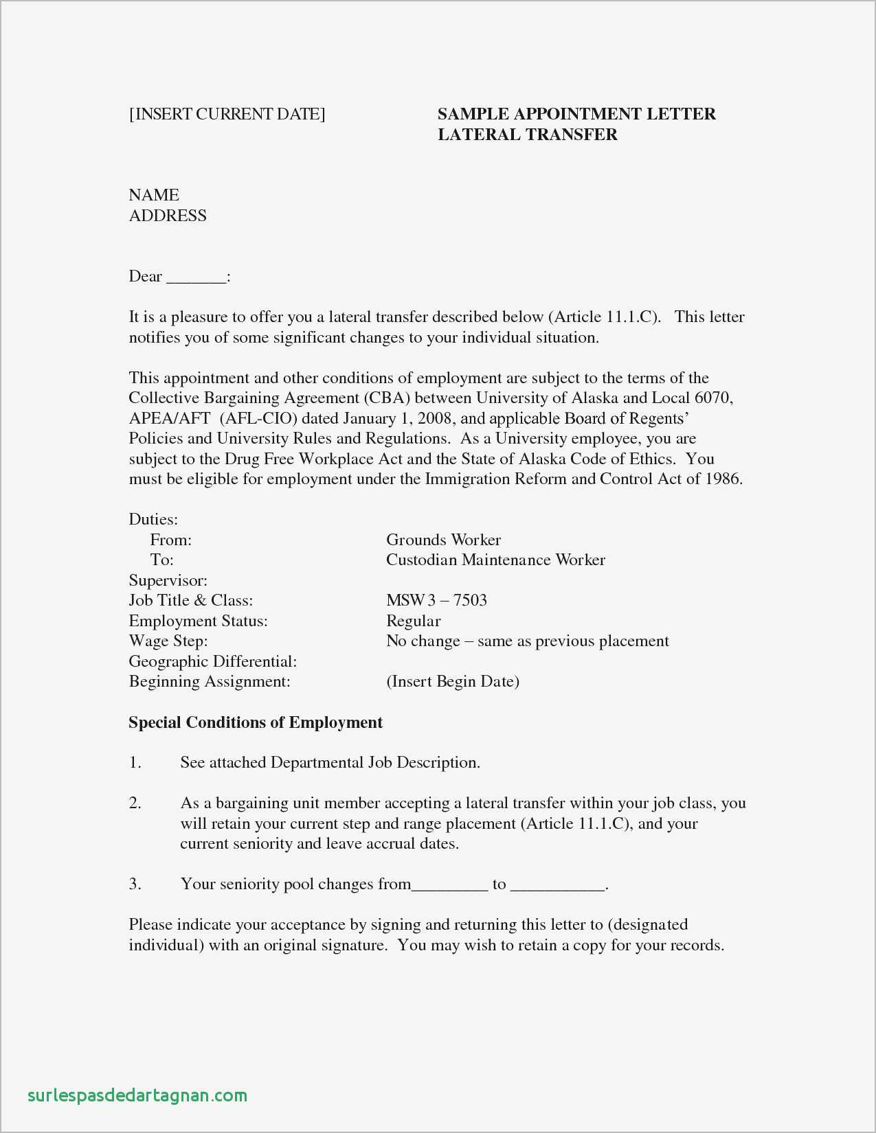 New Hire Letter Template - Job Fer Letter Template Us Copy Od Consultant Cover Letter Fungram