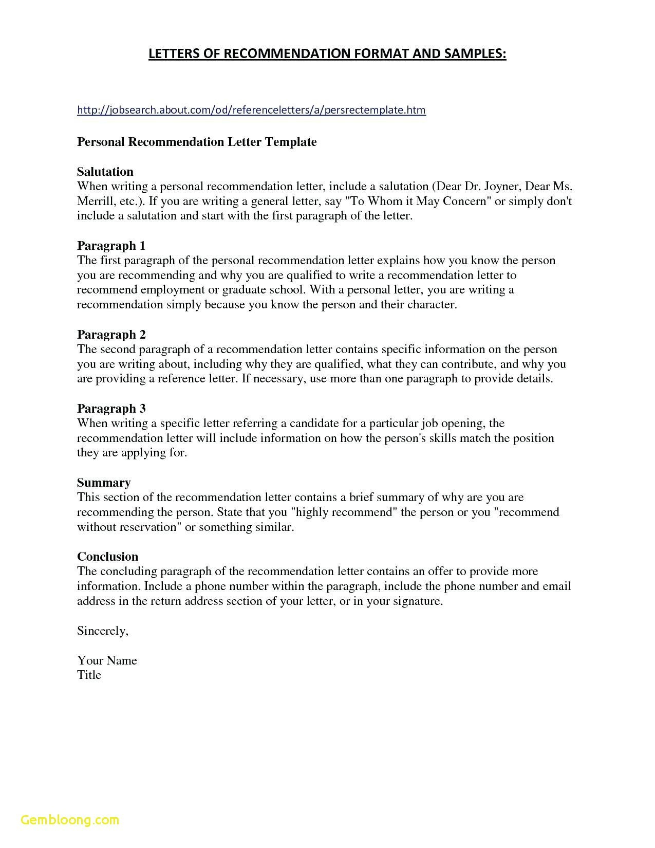 professional reference letter template free example-Job Re mendation Letter Template Best Refrence format Job Reference Letter 1-k