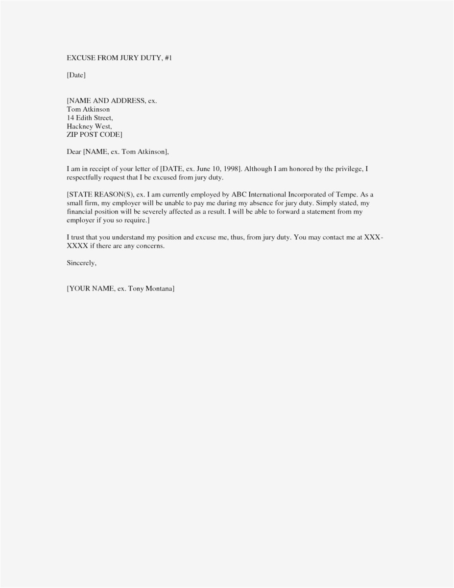 Cease and Desist Collection Letter Template - Jury Duty Excuse Letter format Debt Collection Cease and Desist
