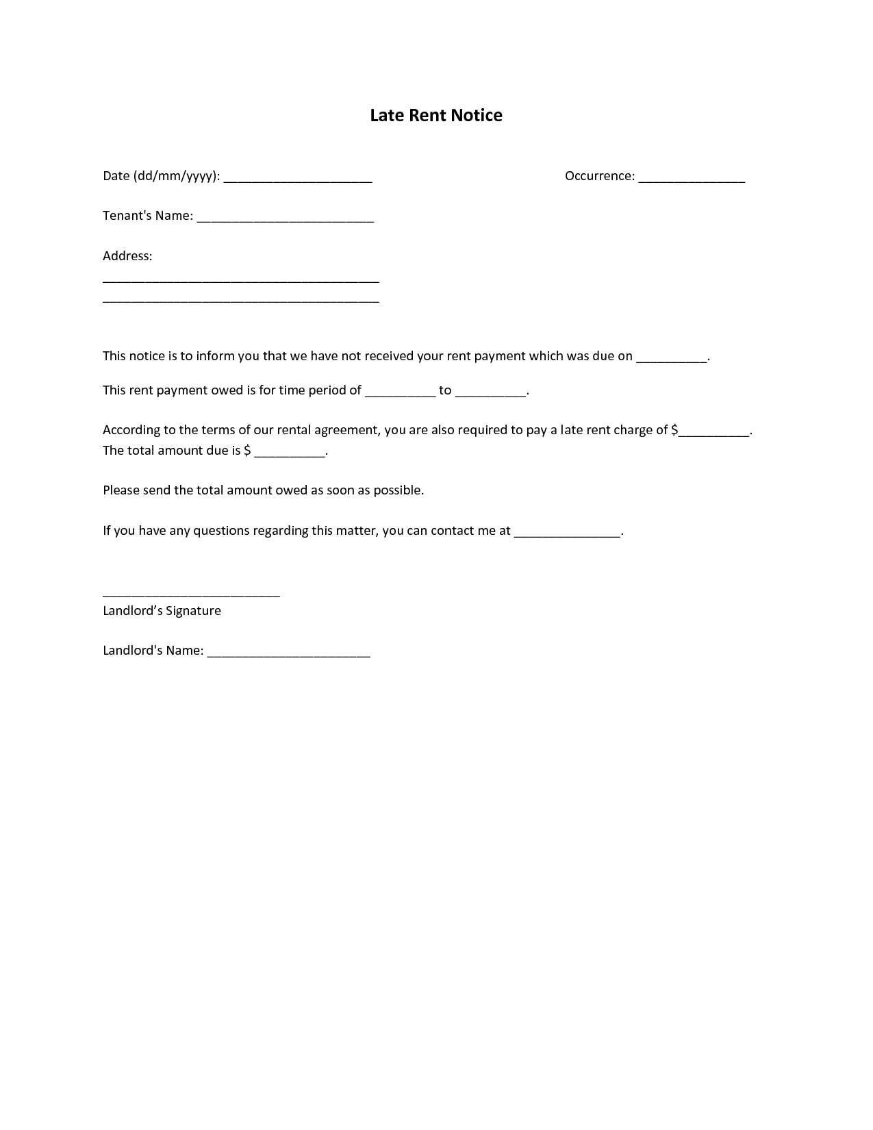 Late Rent Letter Template - Late Rent Payment Agreement Template Unique 19 New Late Rent Letter