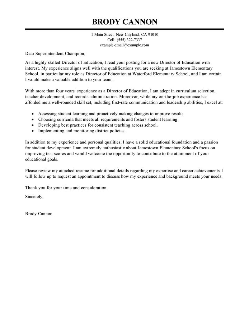 Mla Cover Letter Template - Leading Professional Director Cover Letter Examples & Resources